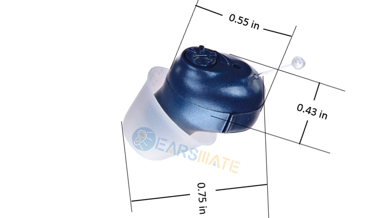 Blue Cic in Ear Digital Hearing Aids for Adults and Elderly