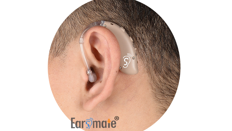 New Sound Tube Rechargeable Open Fit Behind The Ear BTE Hearing Aids
